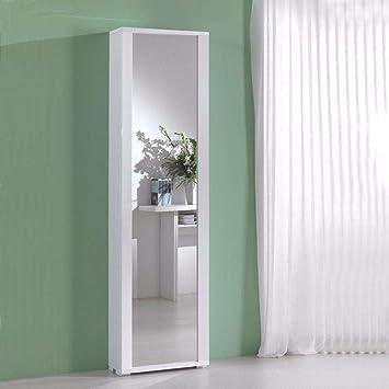 Inside zapatero de Millenium hormigón con puerta espejo: Amazon.es: Hogar
