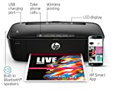 HP AMP 100 Inkjet All-in-One Printer With Integrated Smart AMP Bluetooth Speaker Mobile Printing - in Black (Certified Refurbished)