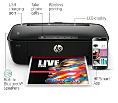 Reasons why you should consider the HP amp 100 Wireless All-in-One printer with integrated SMART amp Bluetooth speaker has revolutionized what it means to be an all-in-one printer merging smart amp and Bluetooth technology with a multifunctio...