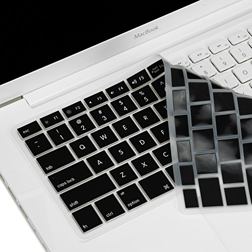 TopCase BLACK Keyboard Silicone Skin Cover for Macbook 13 13.3 (1st Generation/A1181) with TopCase M - http://coolthings.us