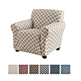 Home Fashion Designs Printed Stretch Sofa Slipcover. Strapless One Piece Stretch Couch Cover. Furniture Cover for Living Room. Brenna Collection. (N/A, N/A)
