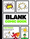 Blank Comic Book: Create Your Own Comic Strip, Blank Comic Panels, 135 Pages, Lime Green (Large, 8.5 x 11 in.) (Action Com...