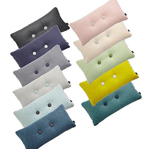 HAY Cushion Dot Cushion Melange Divina   2 X 2 CM Yellow   421?yellow (100%  New Wool: Amazon.co.uk: Kitchen U0026 Home