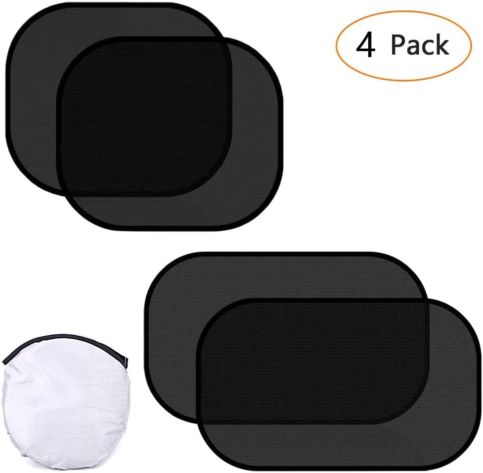 2 Pack 51 Dobee Car Window Shade for Baby 4 Pack 80GSM Adoric Car Sun Shade for Side Window with UV Rays//Sun Heat//Glare Protection For Your Kids Pets 31CM and 2 Pack 44 38CM