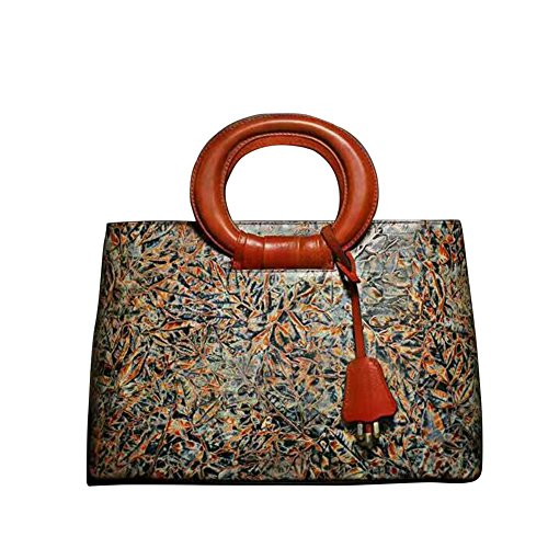 Leathario Womens Genuine Leather Custom Hand Painted Hand...