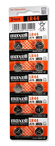 Maxell LR44  Batteries, 10 Count