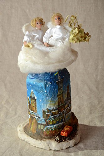 Handmade statuette designer statuette home decor unusual gift angel figurine (Figurine Designer Angel)