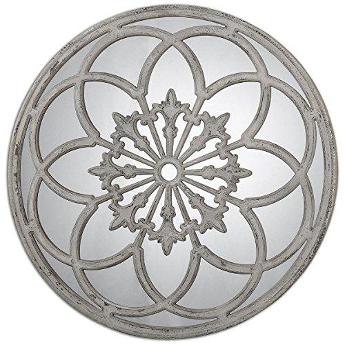 Lamp Ivory Bronze Floor (Uttermost 13868 Conselyea Round Mirror)