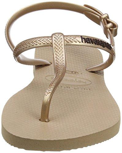 Havaianas Metallic Sandals Gold Freedom Womens Rose rFnHqrOR