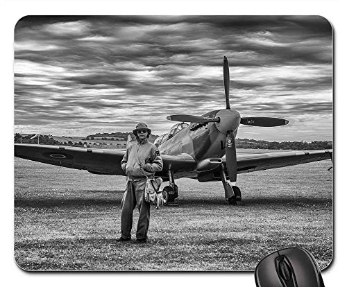 Mouse Pads - Aircraft Spitfire Fighter Ww2 Vintage - Wwii Aircraft Fighter