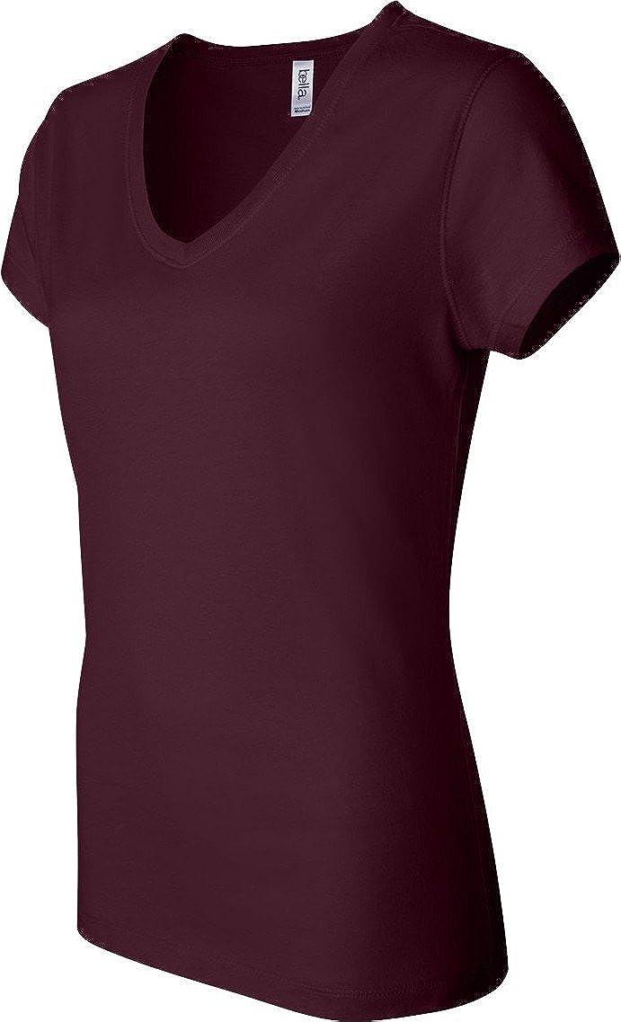 487bf020b Amazon.com: Bella+Canvas Women's Short-Sleeve V-Neck Jersey Tee: Clothing