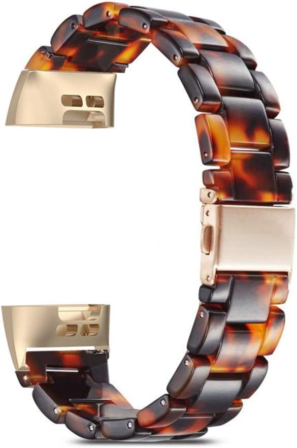ComoMoi Resin Watchband Compatible with Fitbit Charge 3/4 3 SE ...