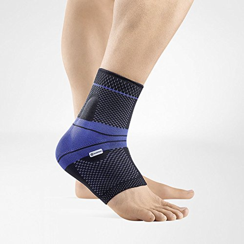Bauerfeind – MalleoTrain – Ankle Support Brace – Helps Stabilize The Ankle Muscles and Joints for Injury Healing and Pain Relief – Left Foot – Size 4 – Color Black