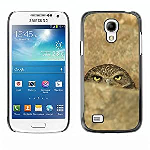 TopCaseStore / la caja del caucho duro de la cubierta de protección de la piel - Funny Evil Sinister Owl - Samsung Galaxy S4 Mini i9190 MINI VERSION!