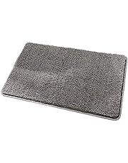 Clean Step Mat Non-Slip Backing Machine Washable Doormat Carpet Rug Dark Grey