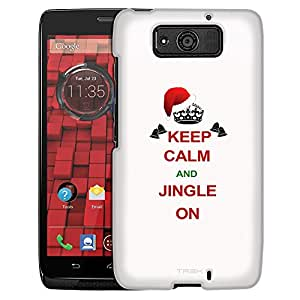 Motorola Droid Ultra Case, Slim Fit Snap On Cover by Trek KEEP CALM and Jingle On on White Case