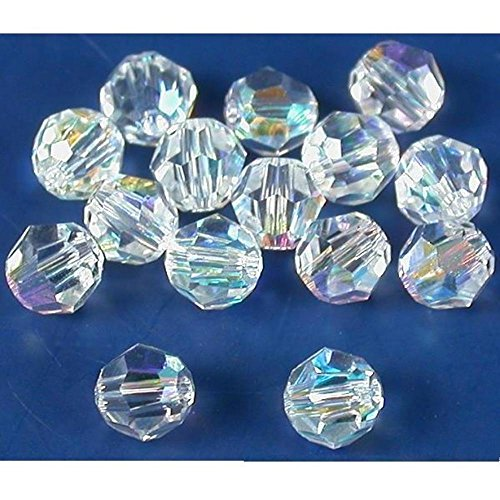 15 Clear AB Round Swarovski Crystal Beads Part 5000 - Crystal Swarovski Beads Parts