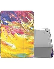 MoKo Fodral passar ny iPad Air 3 2019 (3:e generationen 10,5 tum)/iPad Pro 10,5 2017 – smalt lätt smart skalstativ skydd med genomskinligt frostat bakskydd – målad himmel (auto vakna/sov)