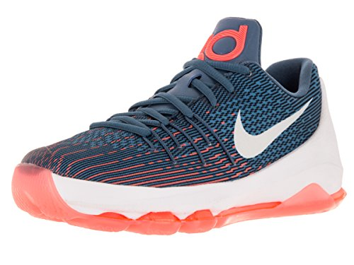 Nike Kids KD 8 Basketball Shoes-OceanFog/White-MidNavy-Phtblue-6