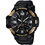 Casio Men's GA1000-9G G-Shock Gravitymaster Black/Gold, Watch