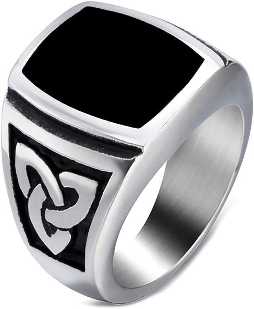 Bague Chevali/ère Homme Universit/é USA Fleur de Lys University Acier 316L Or Dor/é Plaqu/é BOBIJOO Jewelry