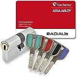 Vachette Cylindre 2 entrées Radialis 32,5x32,5 - 4 clés couleurs A2P - P7101NT+