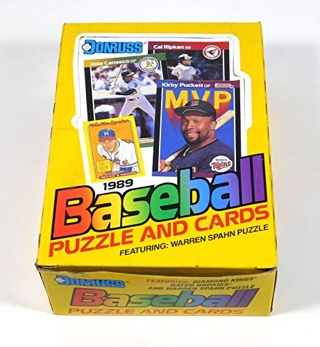 1989 Donruss Baseball Wax Box 36 Sealed Packs Look For The Ken Griffey Jr Rookie Card