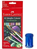 Metallic Colored EcoPencils 12 count & Pencil Sharpener (Blue)