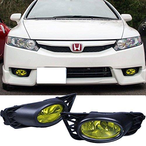 - Lights Fits 2009-2011 Honda Civic | 4Dr Sedan Yellow Lens Fog Lights Lamps Kit RH LH by IKON MOTORSPORTS | 2010