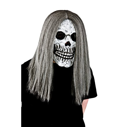 Halloween Skeleton with Hair Foam Mask Fancy Dress Accessory