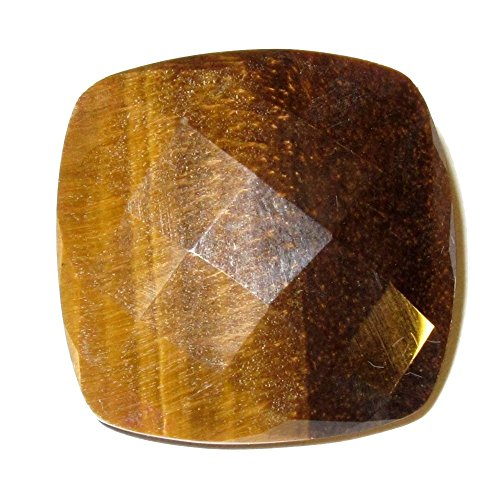 Tigers Eye Polished Stone 03 Multi-Faceted Chatoyant Brown Diamond Crystal Sparkling Confidence Energy Gemstone 1