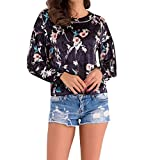 Spbamboo Clearance! Women Lady Printing Casual T-Shirt Long Sleevel Tops Blouse