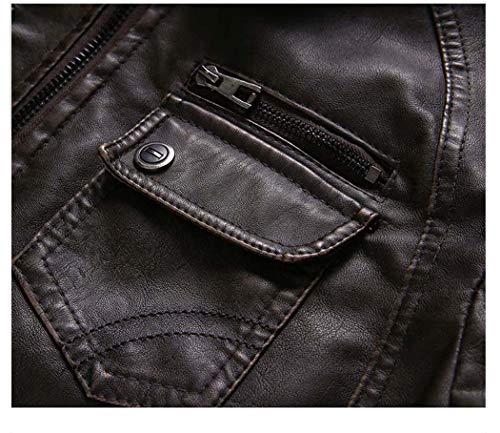 Giacca Giacca e Adong Uomo Uomo Uomo Velluto in Autunno Retro Pelle la Pelle Moto Inverno Moda Black XXXL per Lavato pu e in Pelle zFzqY