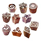 Clay Print Stamps Artistic Small Floral Star