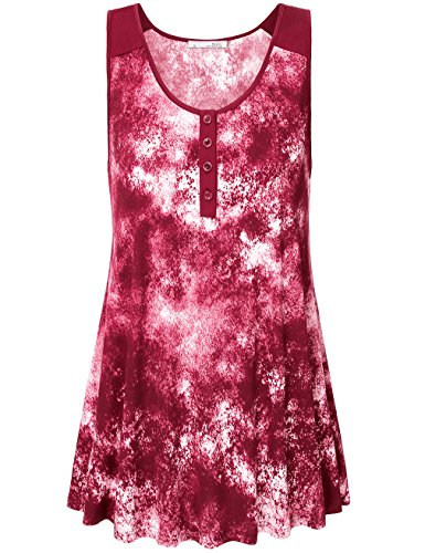 Messic Womens Sleeveless Round Print