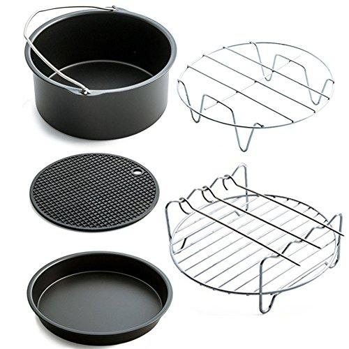 Asenart Universal Air Fryer Accessories, Set of 5, Fit all 3.7QT - 5.3QT - 5.8QT