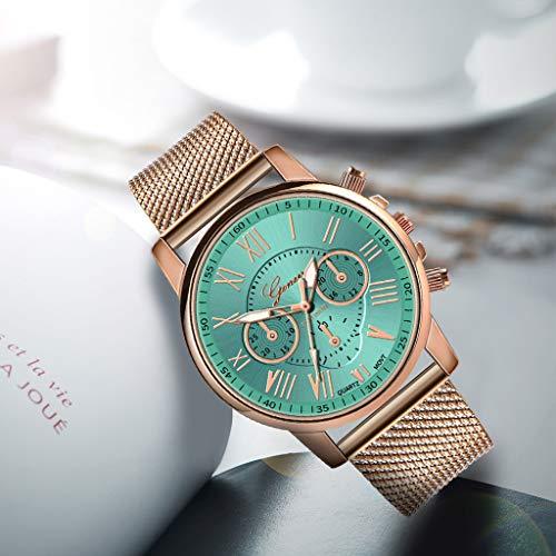 Pocciol Fashion Military Stainless Steel Quartz Watch Womens Casual Watch Luxury Analog Wristwatch (Green) by Pocciol Cheap-Nice Watch (Image #2)
