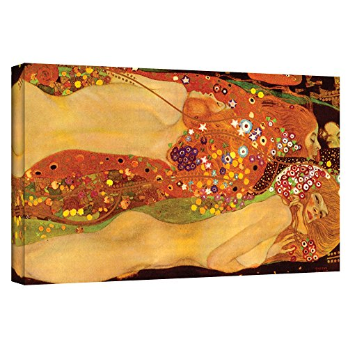 (ArtWall Gallery Wrapped Canvas Water Serpent by Gustav Klimt 24 by 36-Inch)