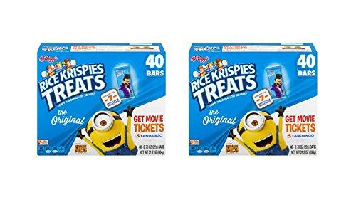 Kellogg's Rice Krispies Treats Crispy Marshmallow Squares (2-Box of 40 CT )