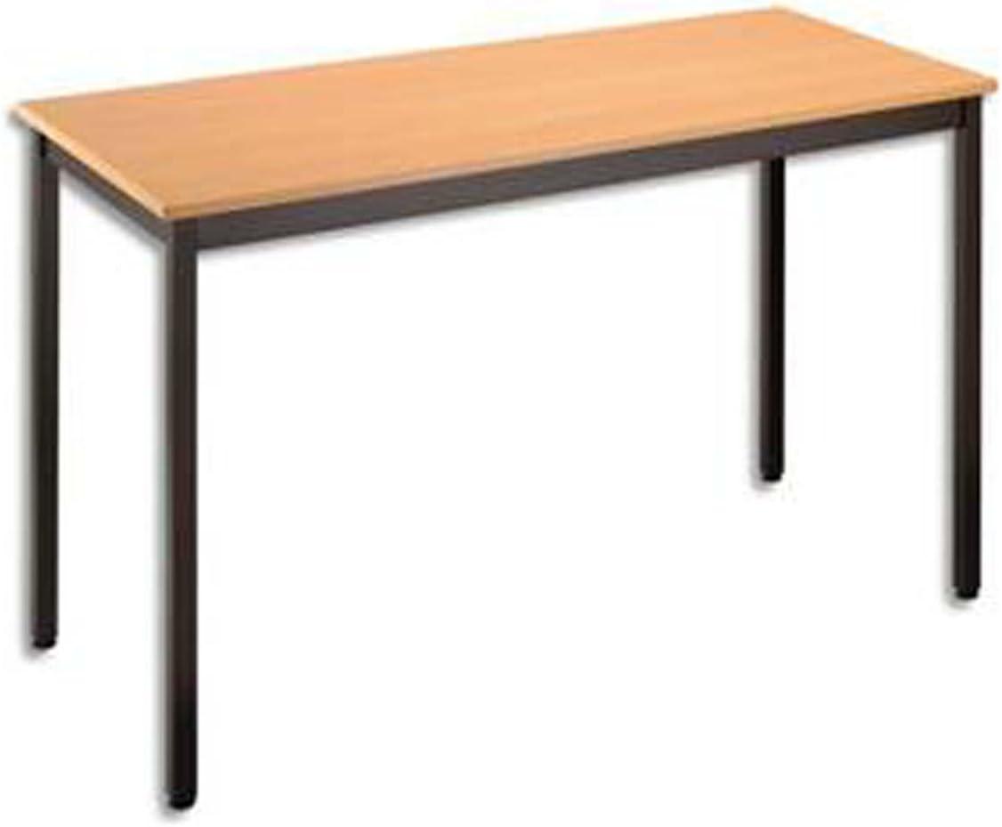 Table polyvalente rectangulaire 120 x 60 cm h/être//noir