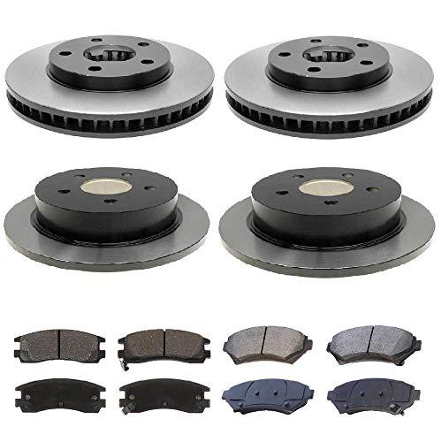 rts SMK69865041 Set of 4 Premium Brake Rotors and 8 Metallic Brake Pads ()