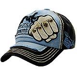 UJUNAOR Embroidered Summer Rivet Cap Hats Men Women Casual Hat Hip Hop Baseball Caps(Black)