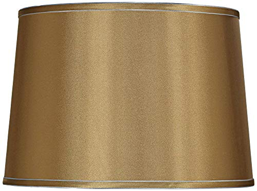 (Sydnee Gold with Silver Trim Drum Shade 14x16x11 (Spider) - Brentwood)