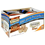 Snyder's of Hanover 100 Calorie Packs Pretzel Snaps, 10-Count Packages (Pack of 6)