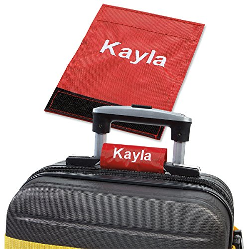 Personalized Red Luggage Handle Wrap - 2