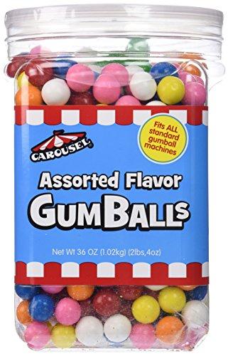 Carousel Assorted Flavor Gumballs Refill Jar