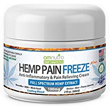Organic Pain Relieving Cream 100mg Full Spectrum Hemp Extract for Rheumatoid Arthritis Wrist Finger Nerve Damage Tendonitis Lower Back Sciatic Relief Knee Joint Muscle Cannabis Sativa Oil Menthol 2oz