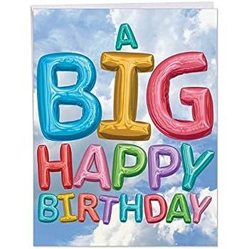Amazon com : Big Happy Birthday From Us Card - Bday Greeting