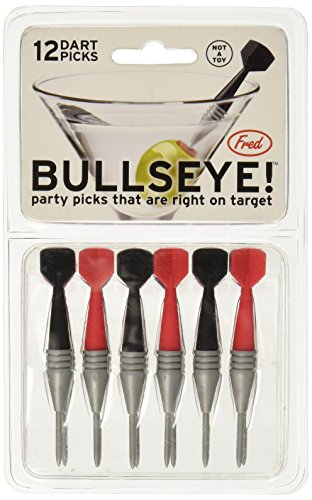 Fred & Friends BULLSEYE! Dart Party Picks, Set of 12