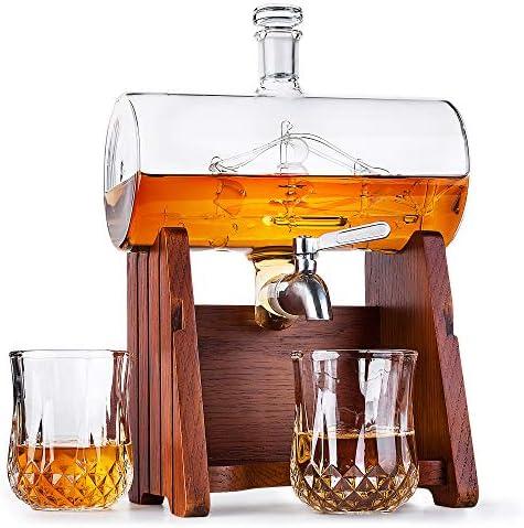 Milburga Unique Whiskey Decanter Set product image